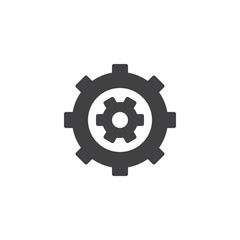 Settings optimization vector icon. filled flat sign for mobile concept and web design. Cogwheel and gear simple solid icon. Symbol, logo illustration. Pixel perfect vector graphics
