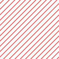 Red white diagonal stripe pattern background. iagonal lines pattern. Repeat straight stripes texture background. Seamless pattern lines.