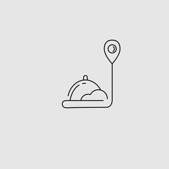 Vector icon and logo for food online deliwery