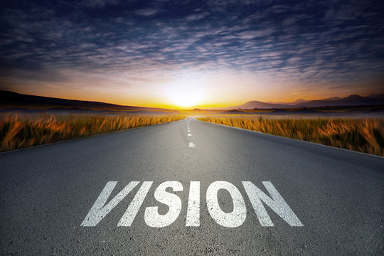 vision text on road