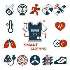 Digital vector smart clothes fashion gadget
