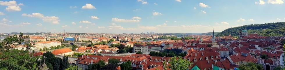 Wall Murals Prague The beautiful panorama of Prague during a summer trip around Europe