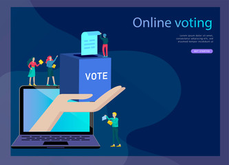 Voting and Election concept. Pre-election campaign. Promotion and advertising of candidate.