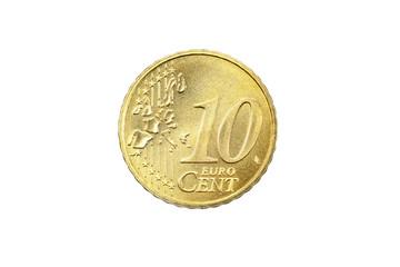 Euro Münze 2004 Deutschland 10 Cent Vorderseite auf weißem Hintergrund