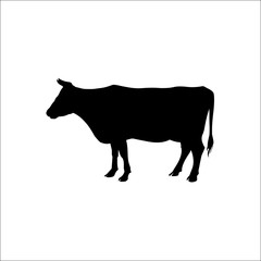 Silhouette of a standing cow