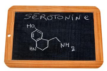 Formule chimique de la sérotonine
