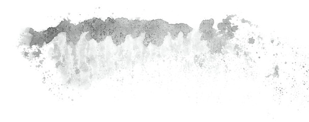 Abstract watercolor background hand-drawn on paper. Volumetric smoke elements. Neutral Gray color. For design, web, card, text, decoration, surfaces.