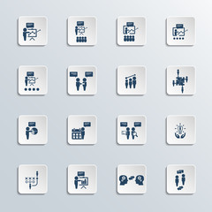 Training. Business training vector icon set.