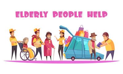 Help Elderly People Banner