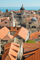 Views of Dubrovnik, Croatia and the Adriatic Sea from the city wall.