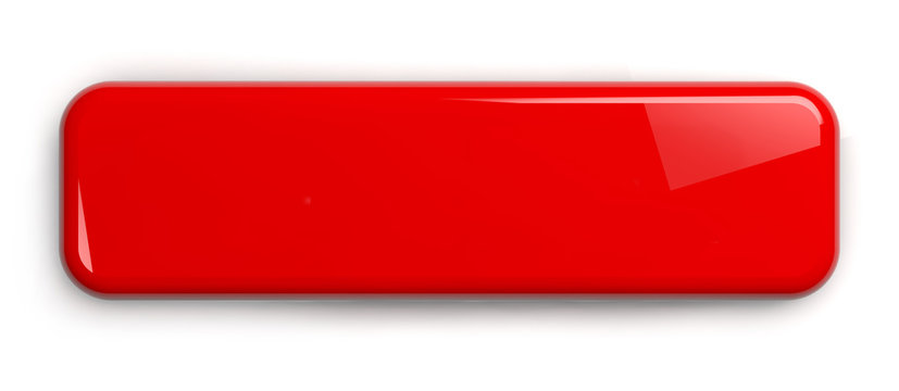 Red Button Label Sign Plate