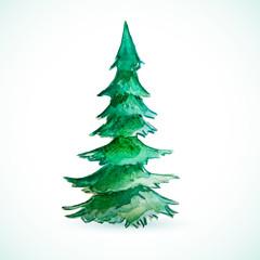 Christmas color tree holiday card season