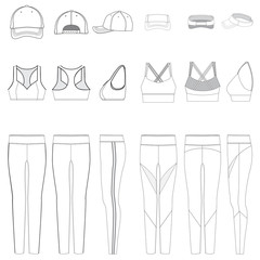 Vector template for Women's Work out Clothes