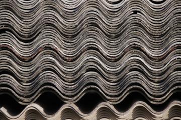 Old asbestos roof