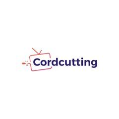 cordcutting logo tv cable vector icon illustration