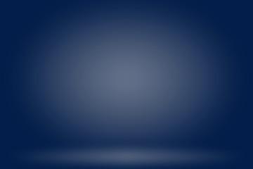 Blue backdrop in empty room 3d. Background - Illustration