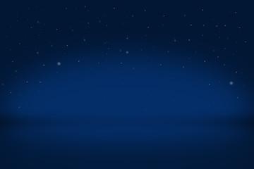 drak Blue backdrop in empty room 3d with sparkle. Background - Illustration