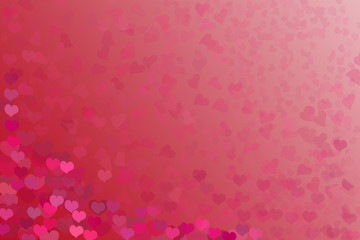 background substrate with gradient and hearts for Valentine's Day. Red