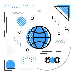 Globe Vector Background