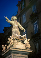 Photo sur Plexiglas Monument religious statue naples italy