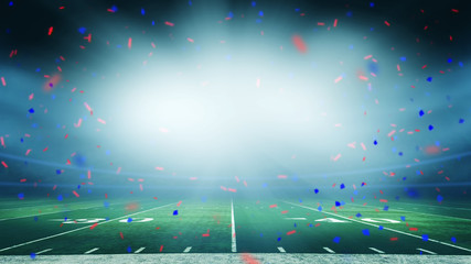 American football field championship win celebration