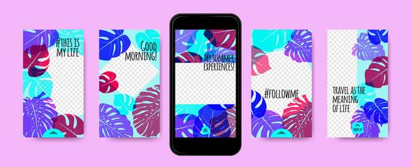 Stories Templates for Social Media Design.