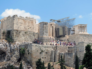 Europe, Greece, Athens, many people want to see the beauty of the Acropolis