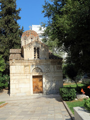 Europe, Greece,Athens, old Christian chapel in one of the parks of the city