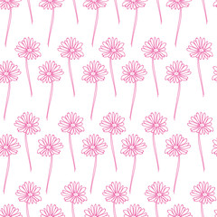 vector Floral seamless pattern background. Flower background. doodle seamless texture with flowers. wallpaper