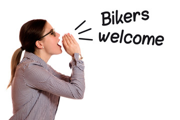 Wall Mural - Bikers welcome