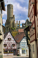 City and castle Eppstein. Germany
