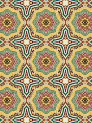 Abstract geometric pattern. Symmetrical pattern of lines, stars, triangles. Arabic style