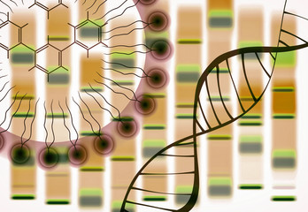 DNA - Genome Editing - Abstract Illustration