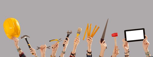 construction tools concept