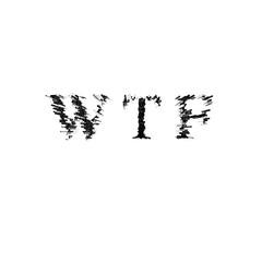 3d text illustration depth effect wtf