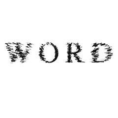 3d text illustration depth effect word