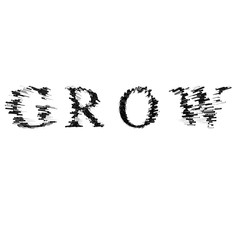 3d text illustration depth effect grow