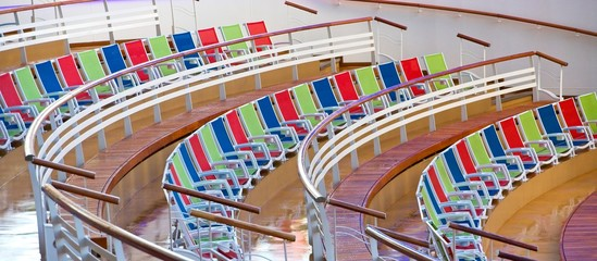 Row of Colorful Chairs