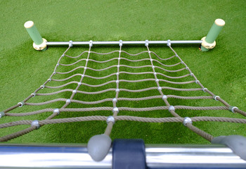 Close up net rope on playground
