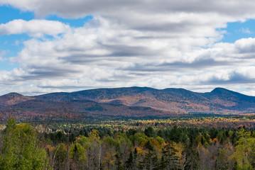 Autumn view of Adirondack Mountains near Indian Lake