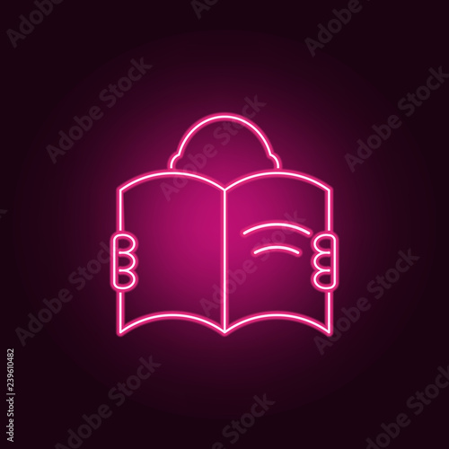 a man with an open book icon  Elements of Books and