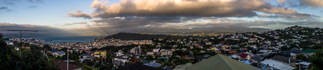 Sunset over Wellington, New Zealand