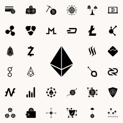 Etherium sign icon. Crypto currency icons universal set for web and mobile