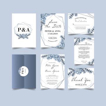 lovely winter wedding invitation