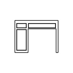 Desktop icon. Element of Furniture for mobile concept and web apps icon. Thin line icon for website design and development, app development