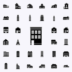 building for habitation icon. house icons universal set for web and mobile