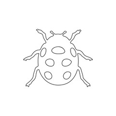 ladybug icon. Element of insect for mobile concept and web apps icon. Thin line icon for website design and development, app development