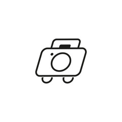 photography travel logo concept