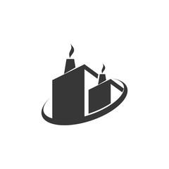 industrial vector silhouette logo concept