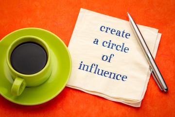 Create a circle of influence advice